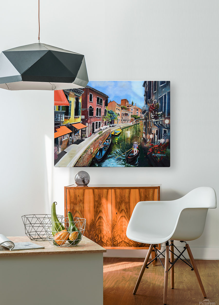 Venice in Summer Vivid  HD Metal print with Floating Frame on Back
