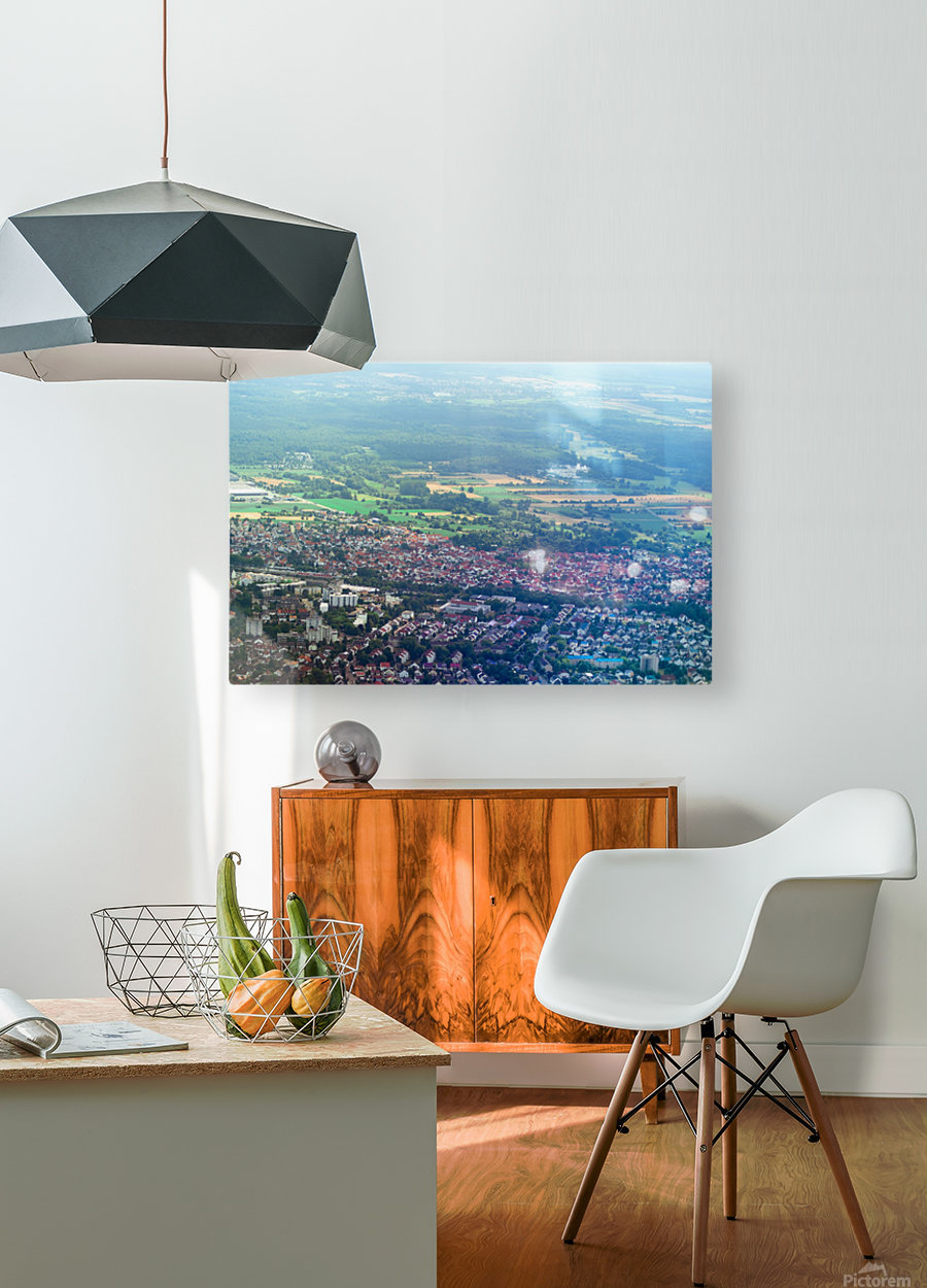 Airplain  HD Metal print with Floating Frame on Back