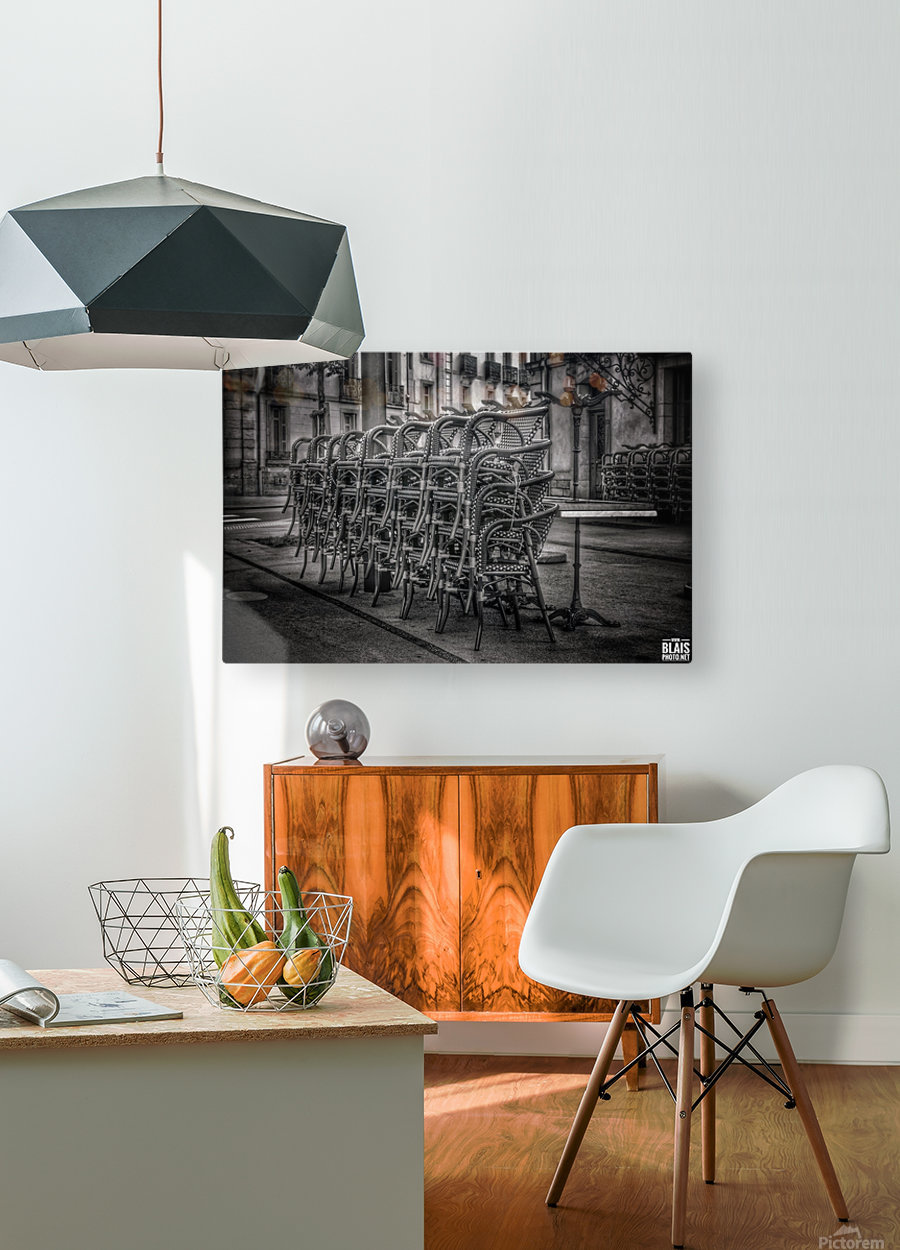 French Bistro  HD Metal print with Floating Frame on Back