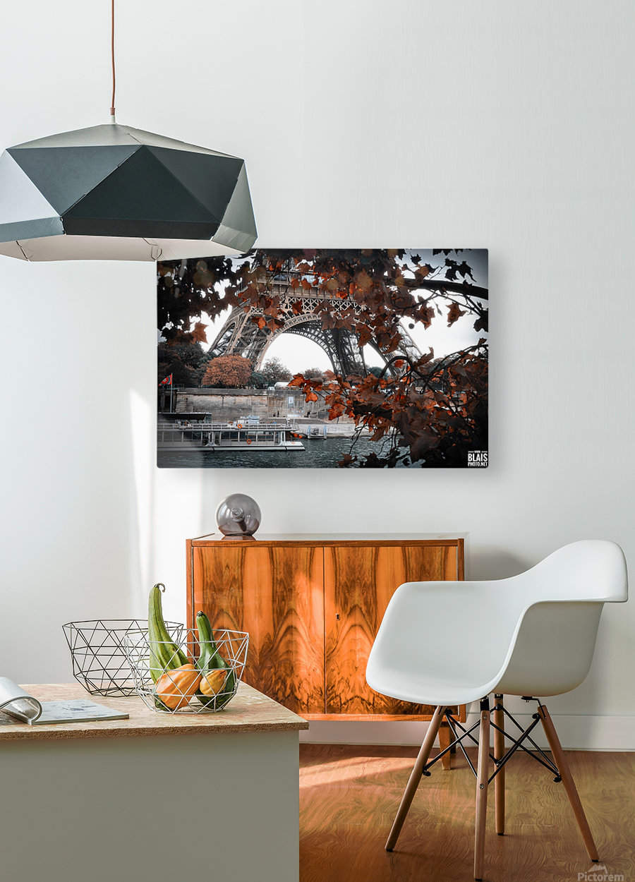 Autumn in Paris  HD Metal print with Floating Frame on Back