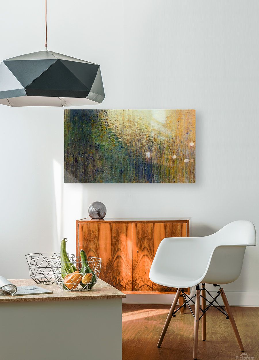 Paris Autumn  HD Metal print with Floating Frame on Back