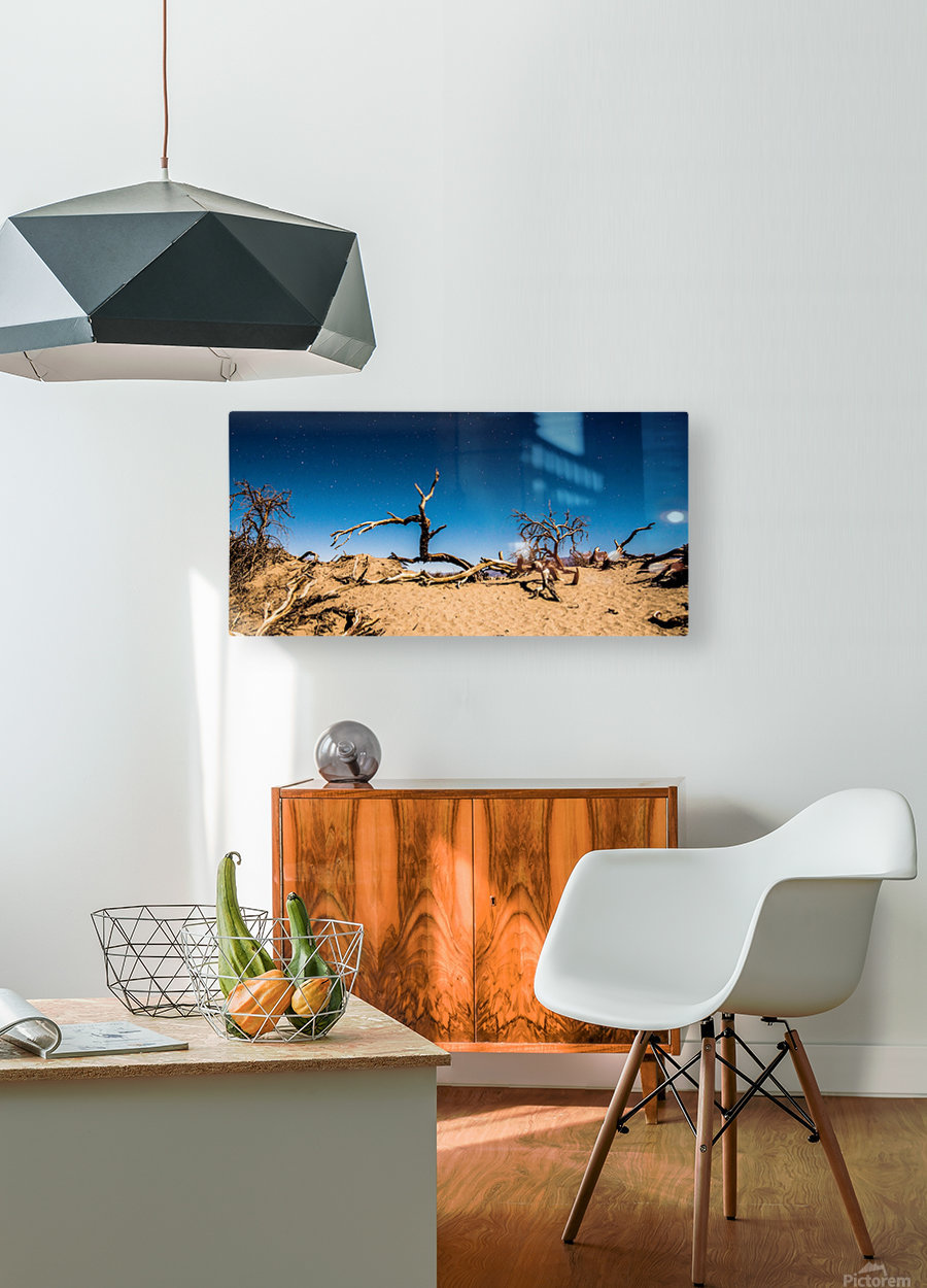 Death Valley Night  HD Metal print with Floating Frame on Back