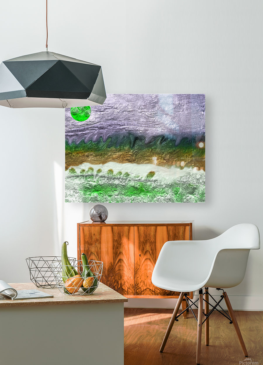 Landscape with Moon 0620  HD Metal print with Floating Frame on Back