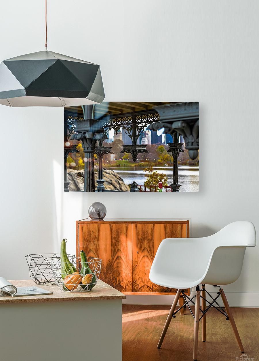 Inside Gazebo Central Park   HD Metal print with Floating Frame on Back
