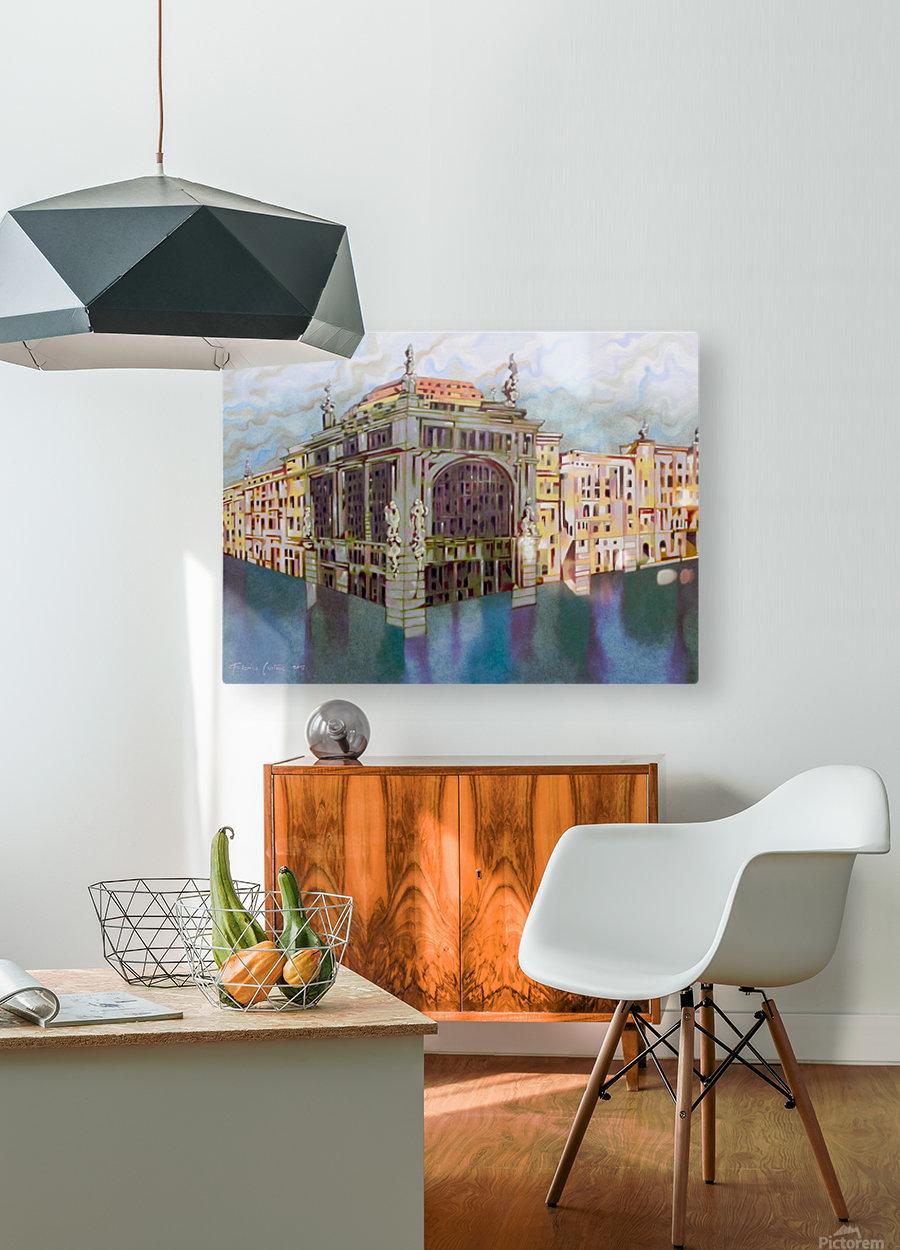 memory of Saint Peterburg, Nevskij Prospekt  HD Metal print with Floating Frame on Back
