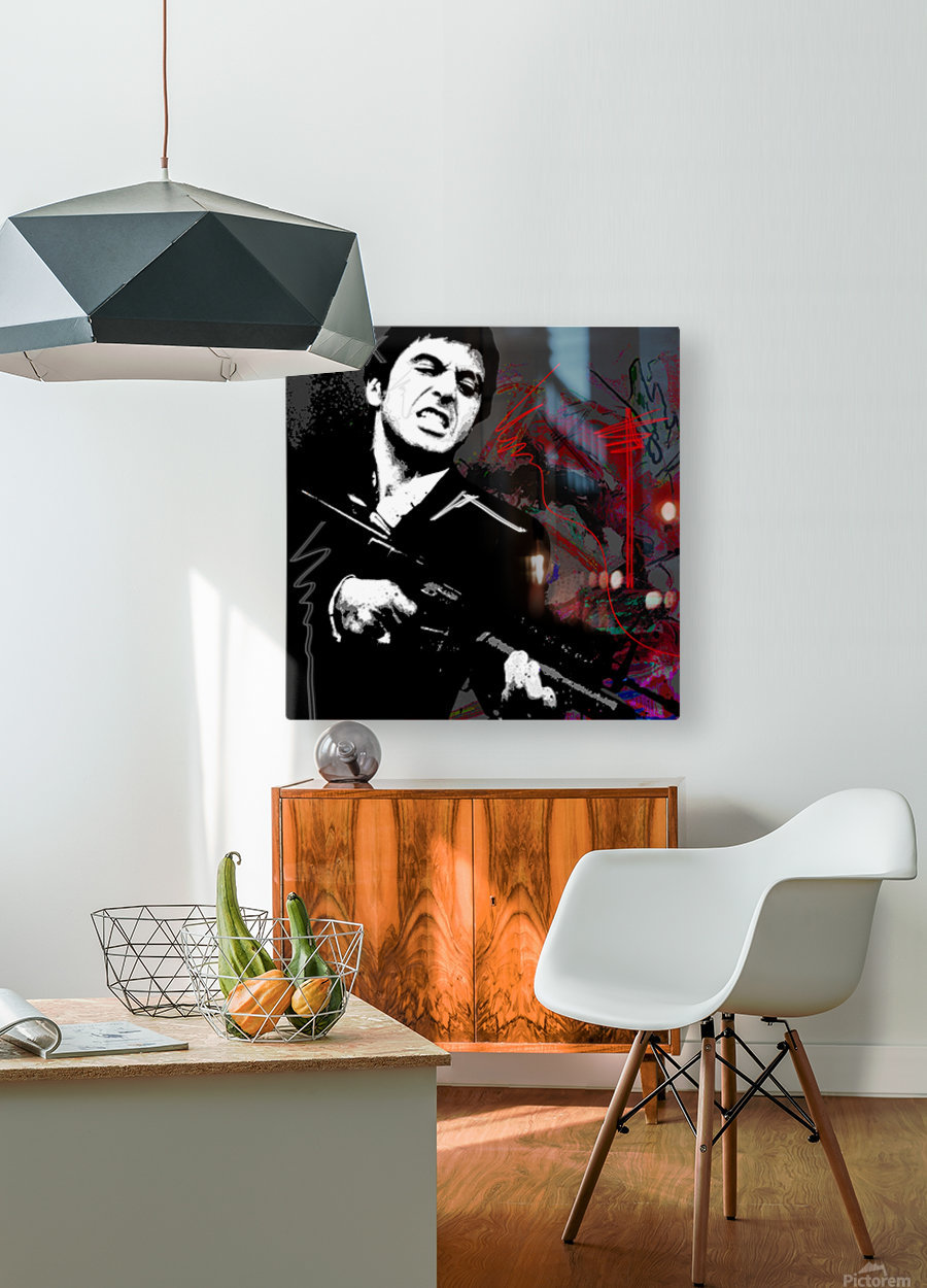 Say X  HD Metal print with Floating Frame on Back