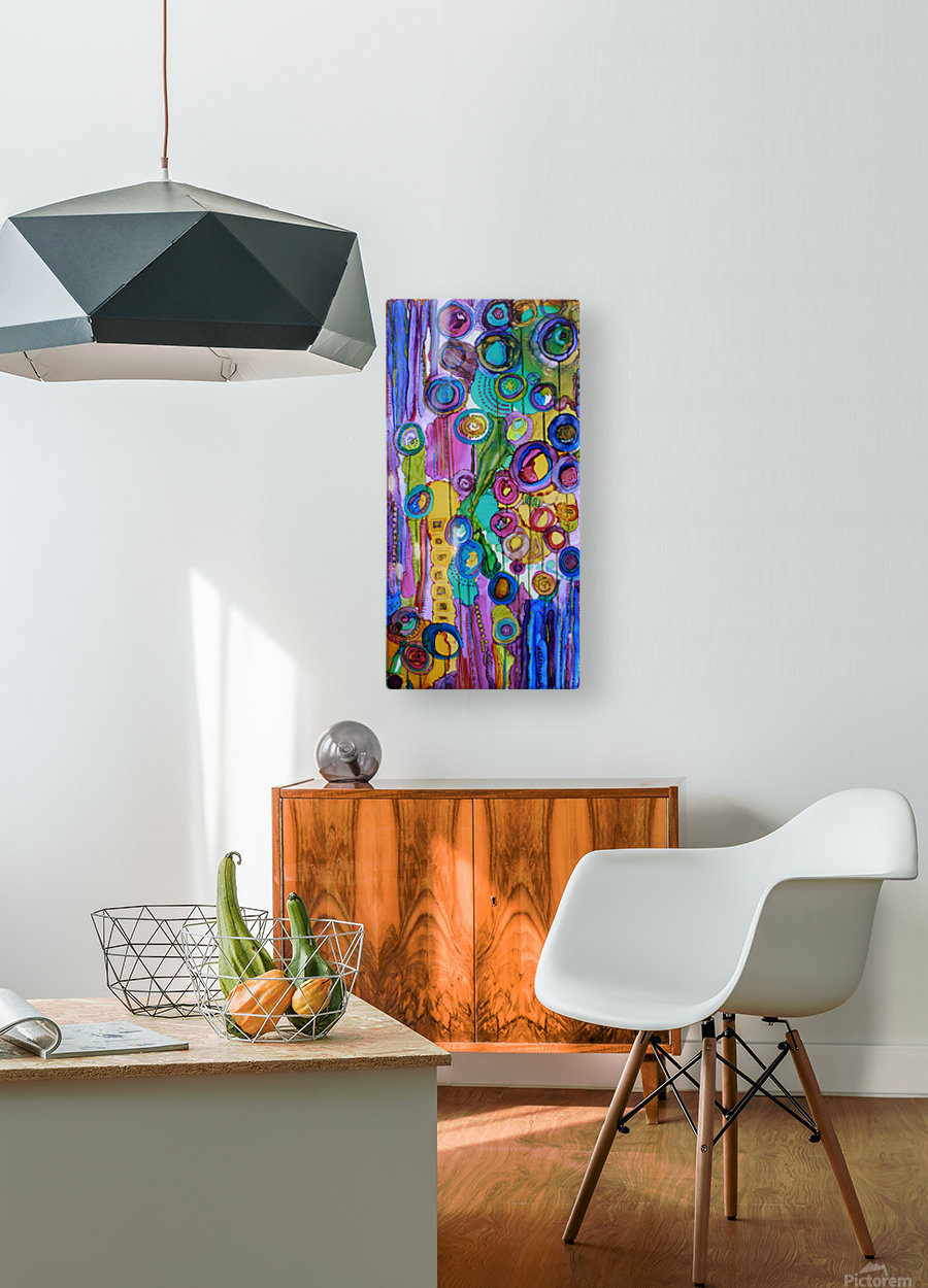 Cosmic Forest  HD Metal print with Floating Frame on Back