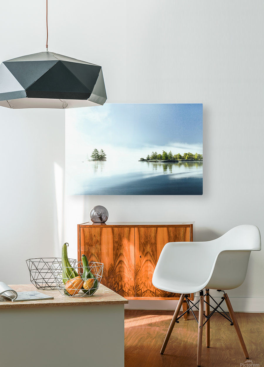 Blue water  HD Metal print with Floating Frame on Back