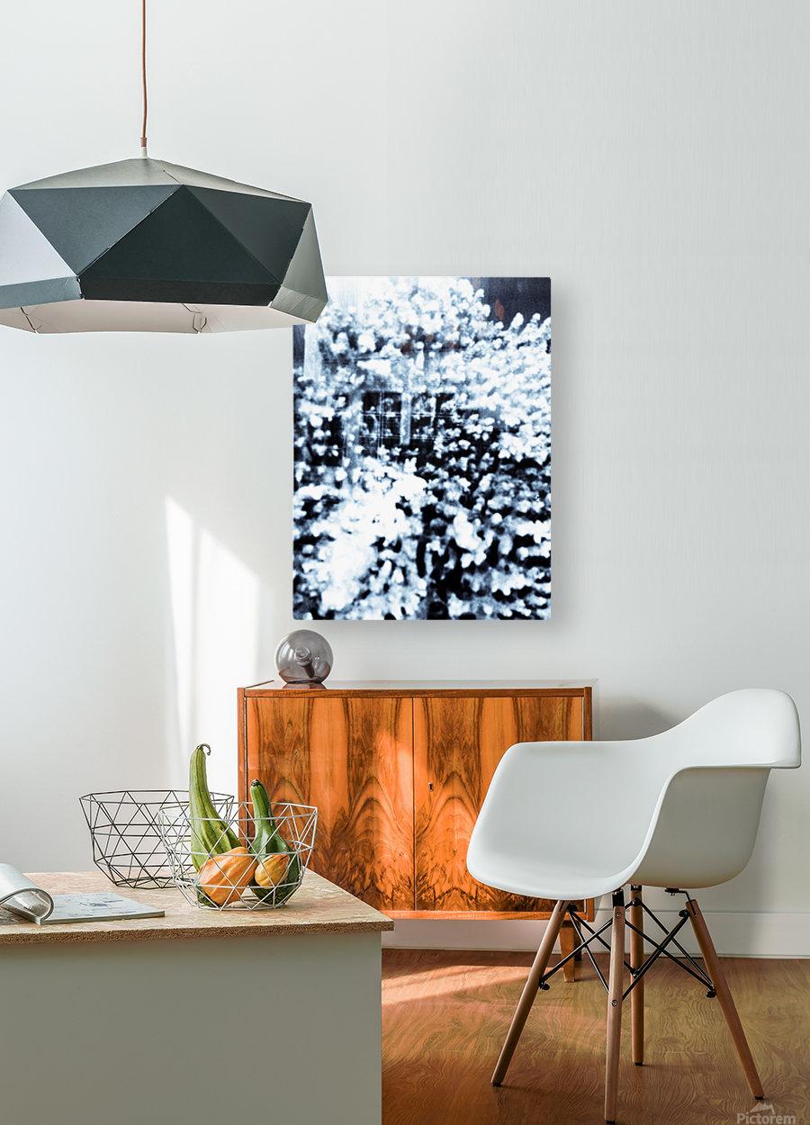 BURST - INVERTED  HD Metal print with Floating Frame on Back