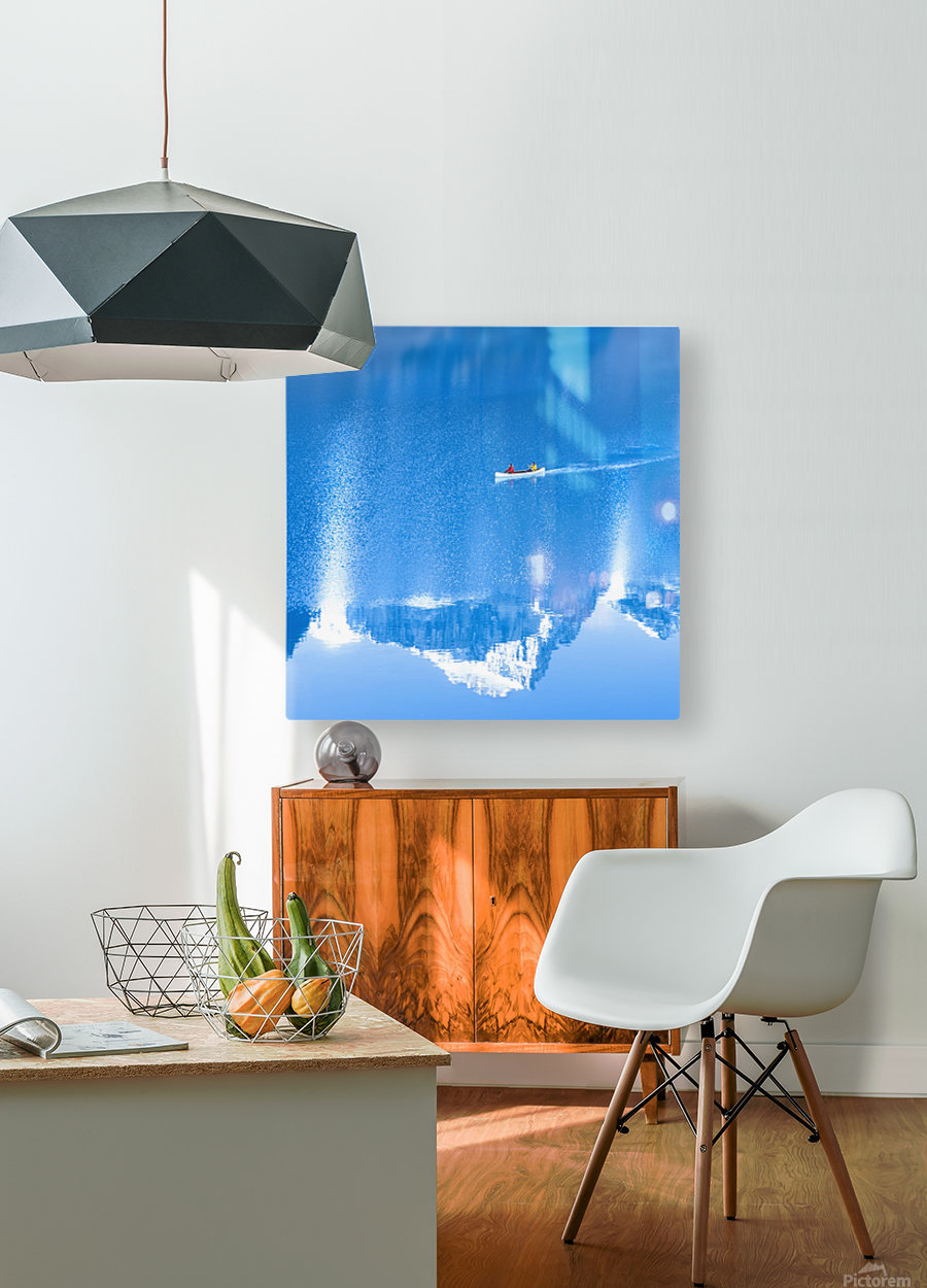 Icy blue   HD Metal print with Floating Frame on Back