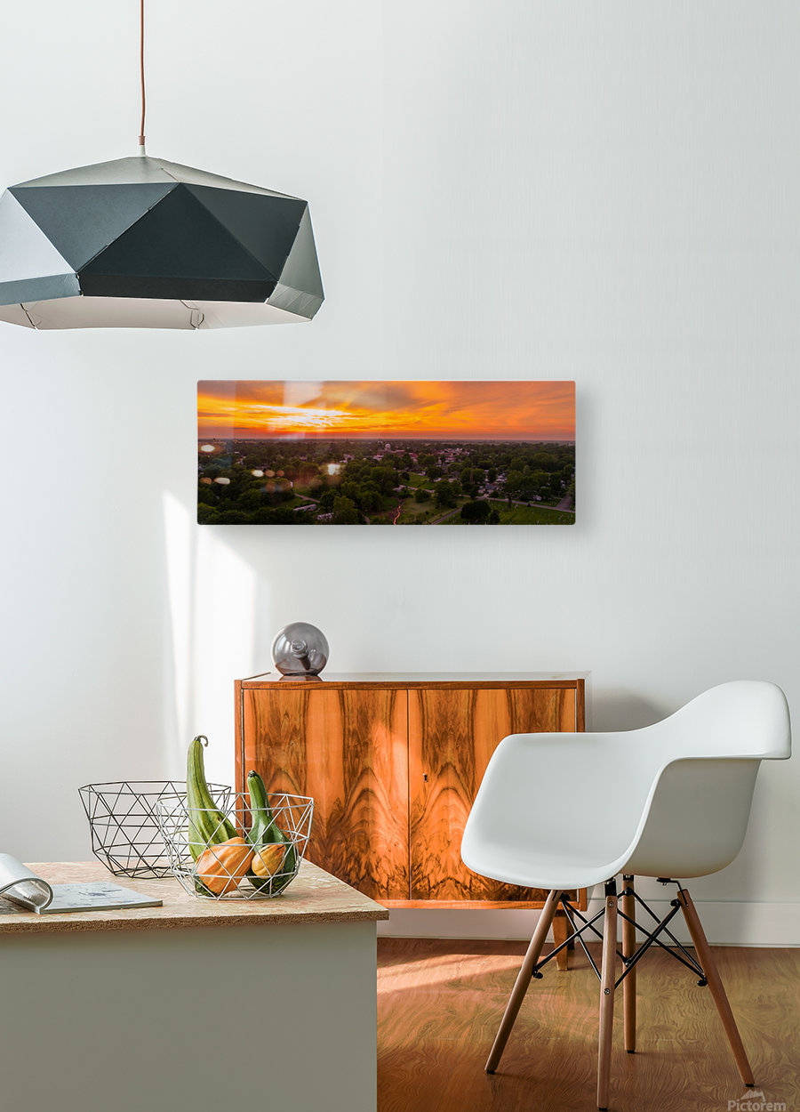 Rushville, IL Sunset  HD Metal print with Floating Frame on Back