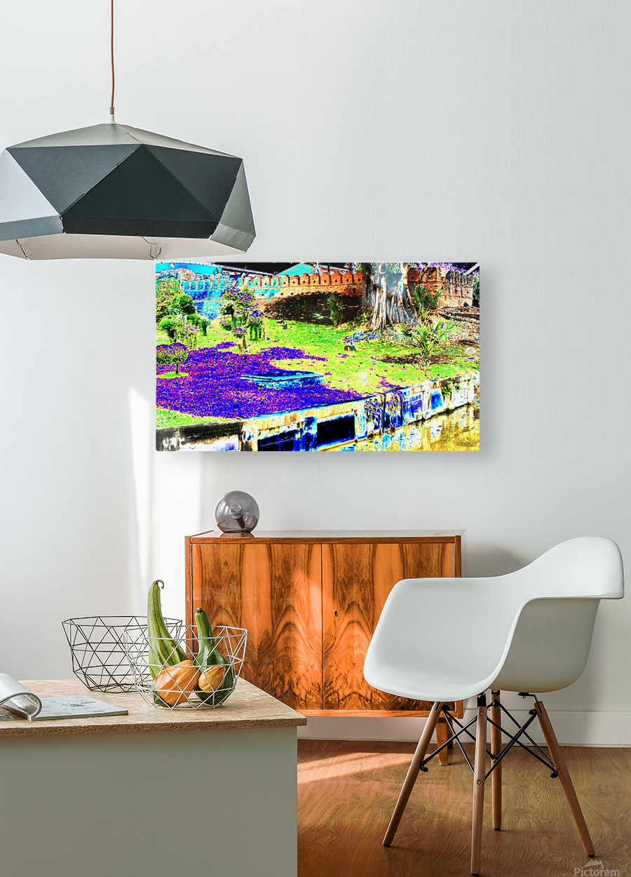 Old City Wall landscape.  HD Metal print with Floating Frame on Back