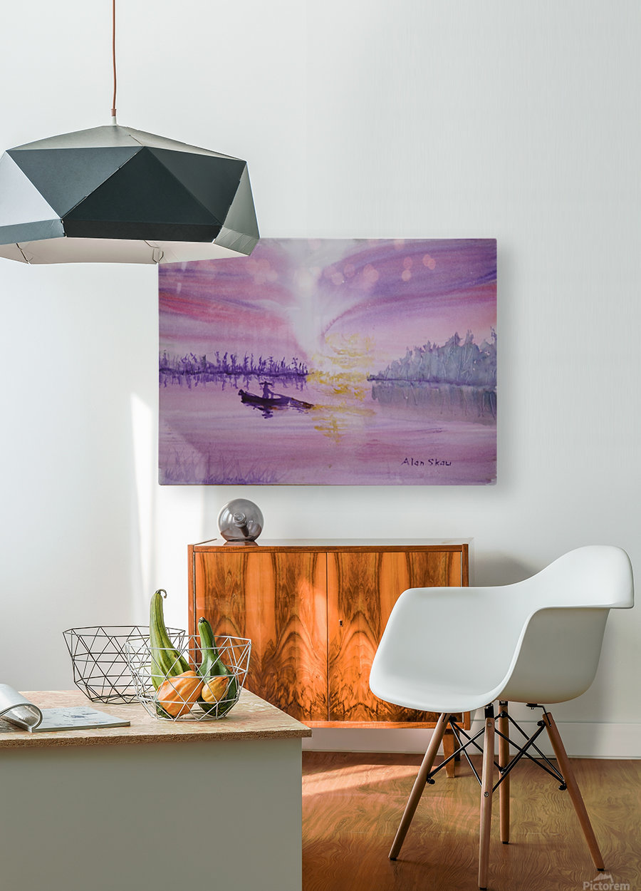 Net fishing.  HD Metal print with Floating Frame on Back