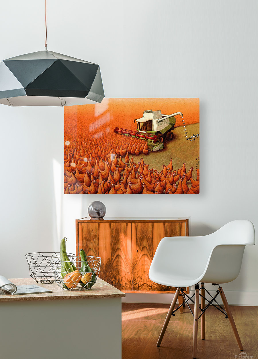 Eggs  HD Metal print with Floating Frame on Back