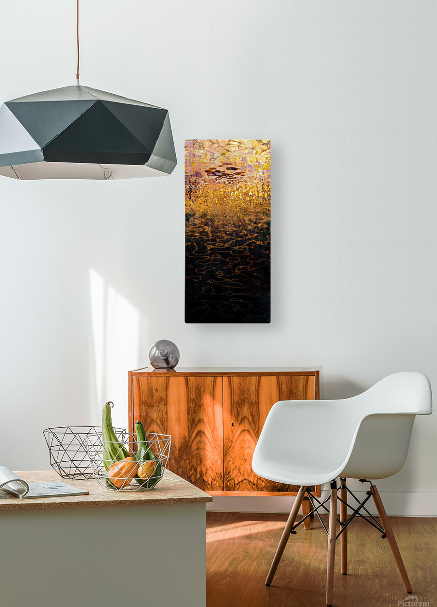 Hell Lakes V  HD Metal print with Floating Frame on Back