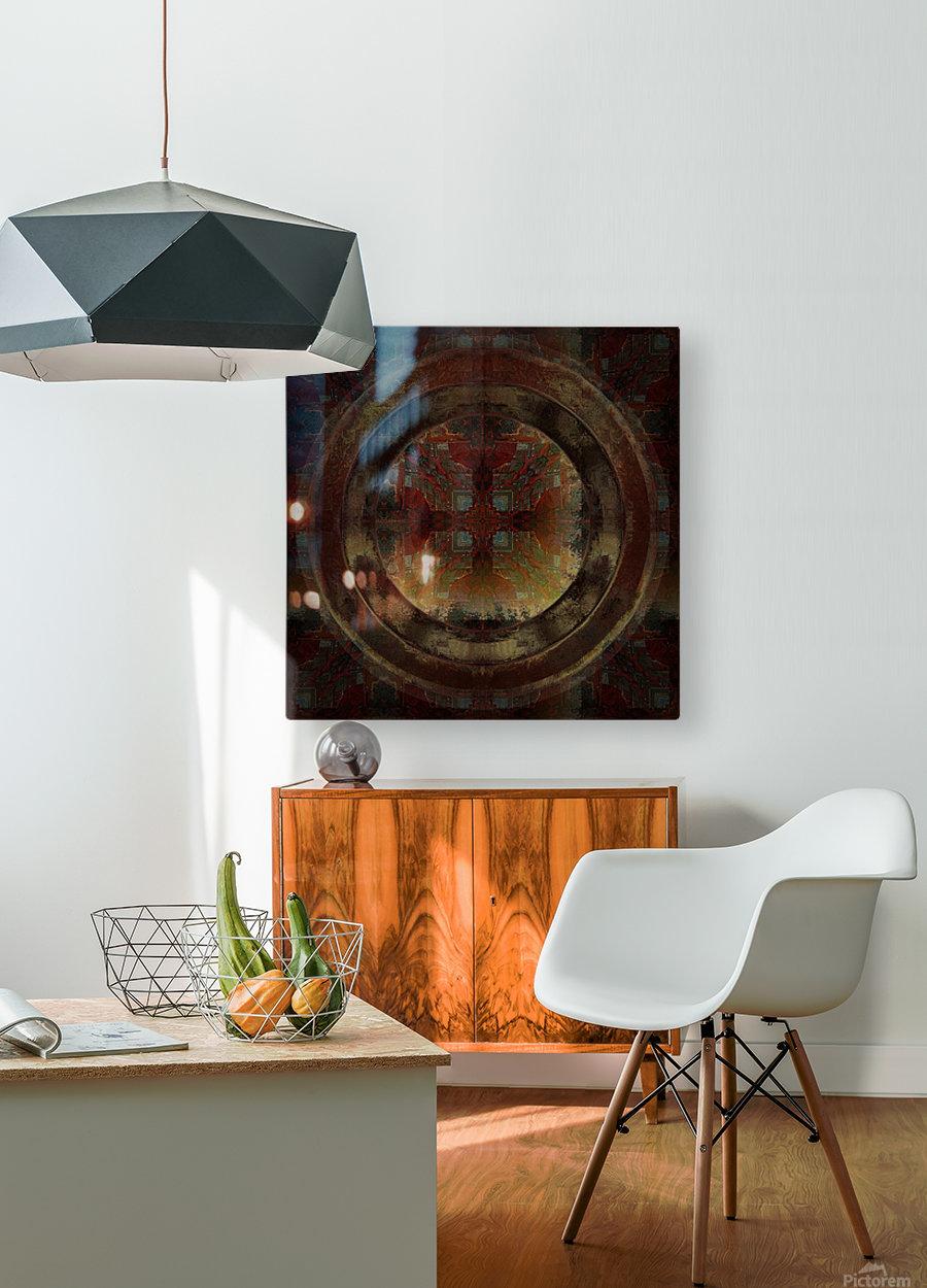 Maltese Window  HD Metal print with Floating Frame on Back