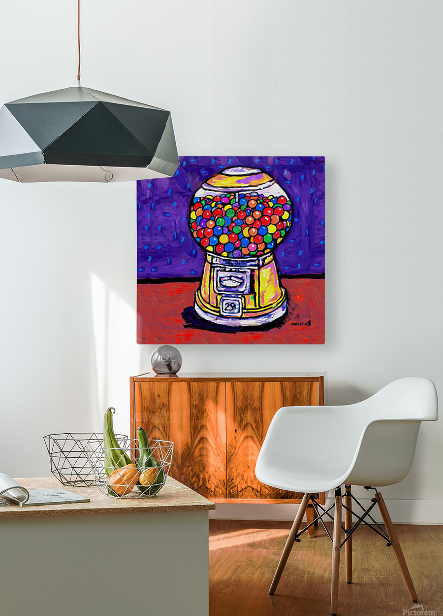 BUBBLE GUM MACHINE  HD Metal print with Floating Frame on Back