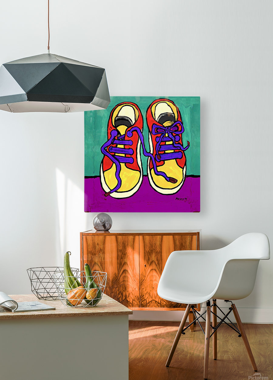TENNIE RUNNERS  HD Metal print with Floating Frame on Back