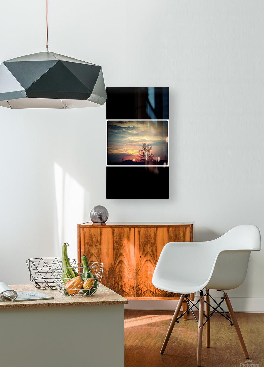 Sunset Above Walmart on December 2cd   HD Metal print with Floating Frame on Back