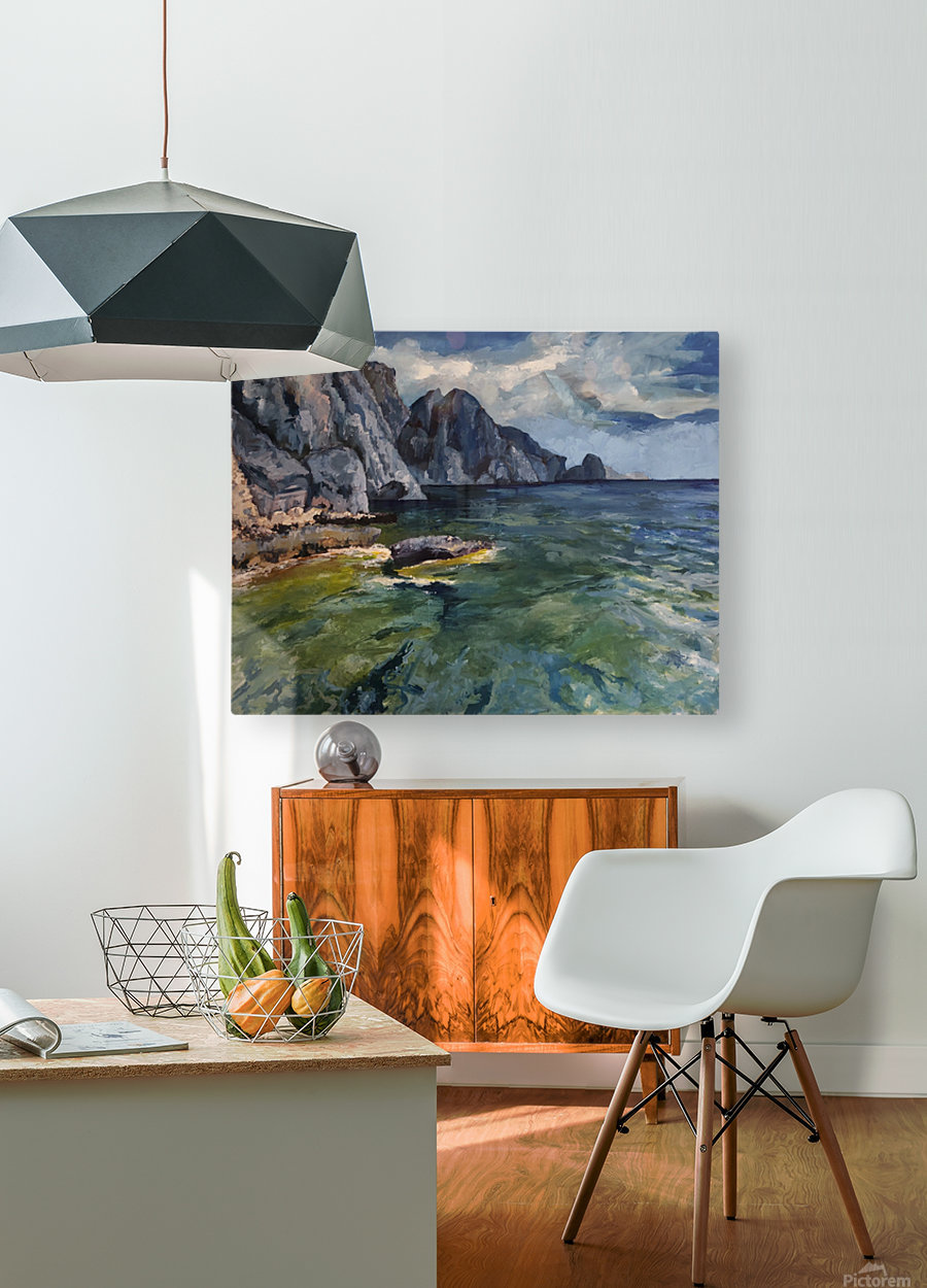 Capri grotto  HD Metal print with Floating Frame on Back