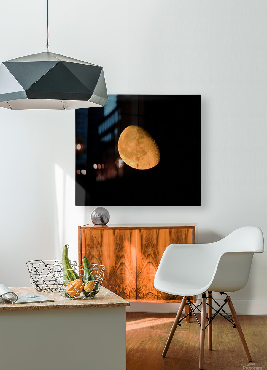 Moon - 4.27  HD Metal print with Floating Frame on Back