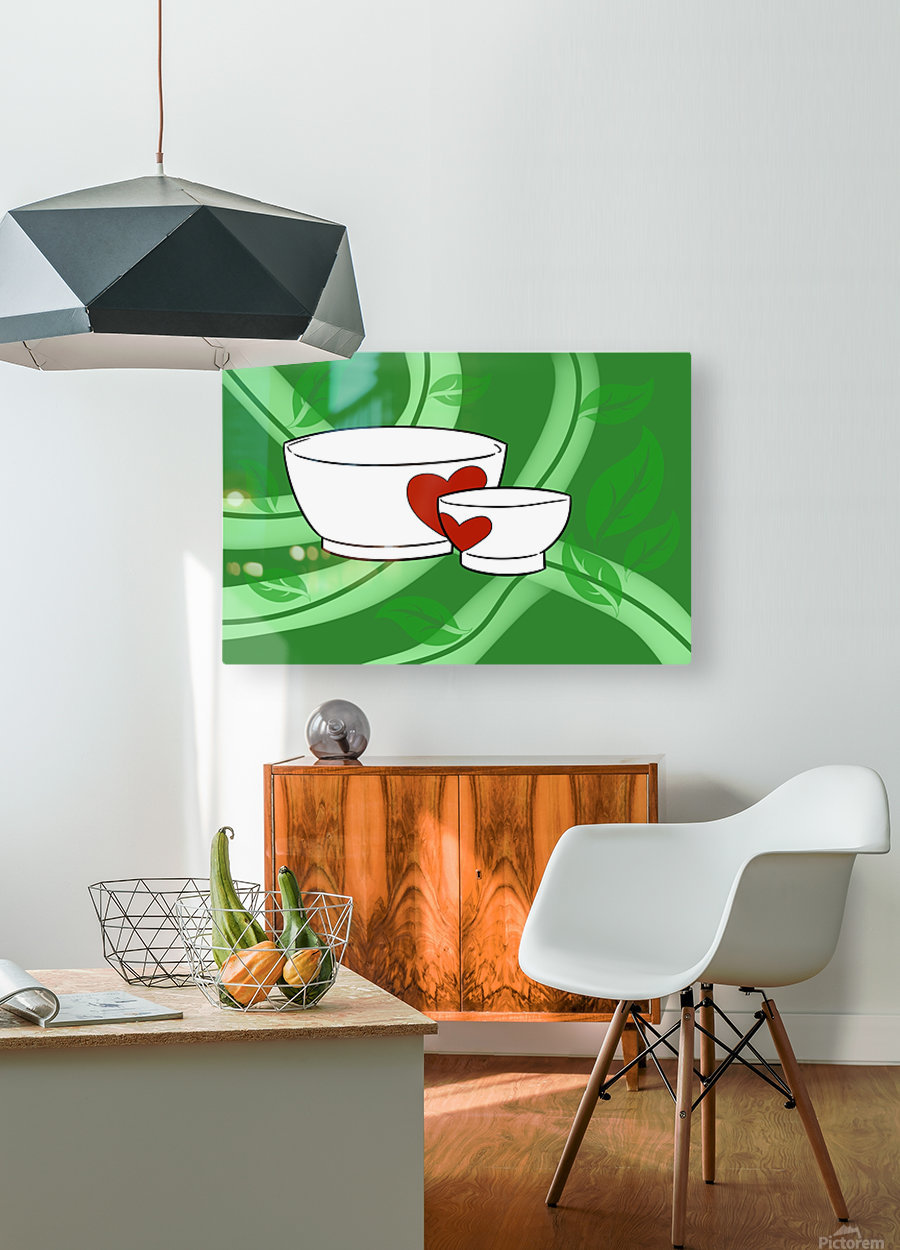 Organic  HD Metal print with Floating Frame on Back