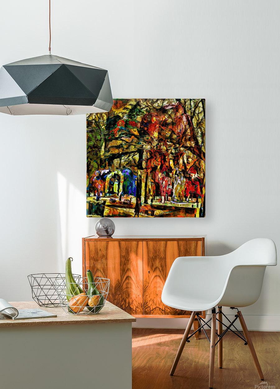 Hypersolvus Park  HD Metal print with Floating Frame on Back