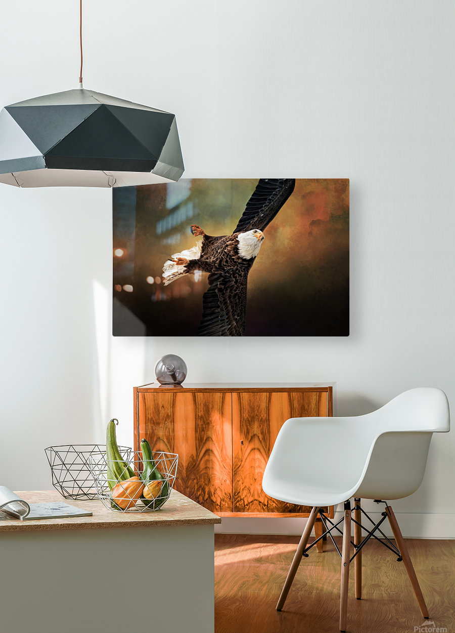 On a Dime  HD Metal print with Floating Frame on Back