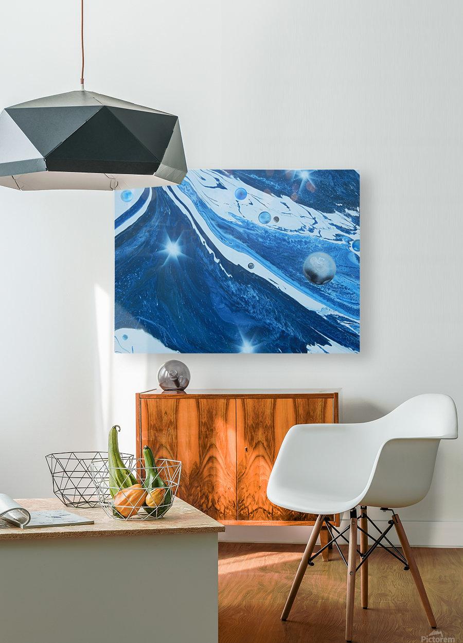 STAR MAKER  HD Metal print with Floating Frame on Back