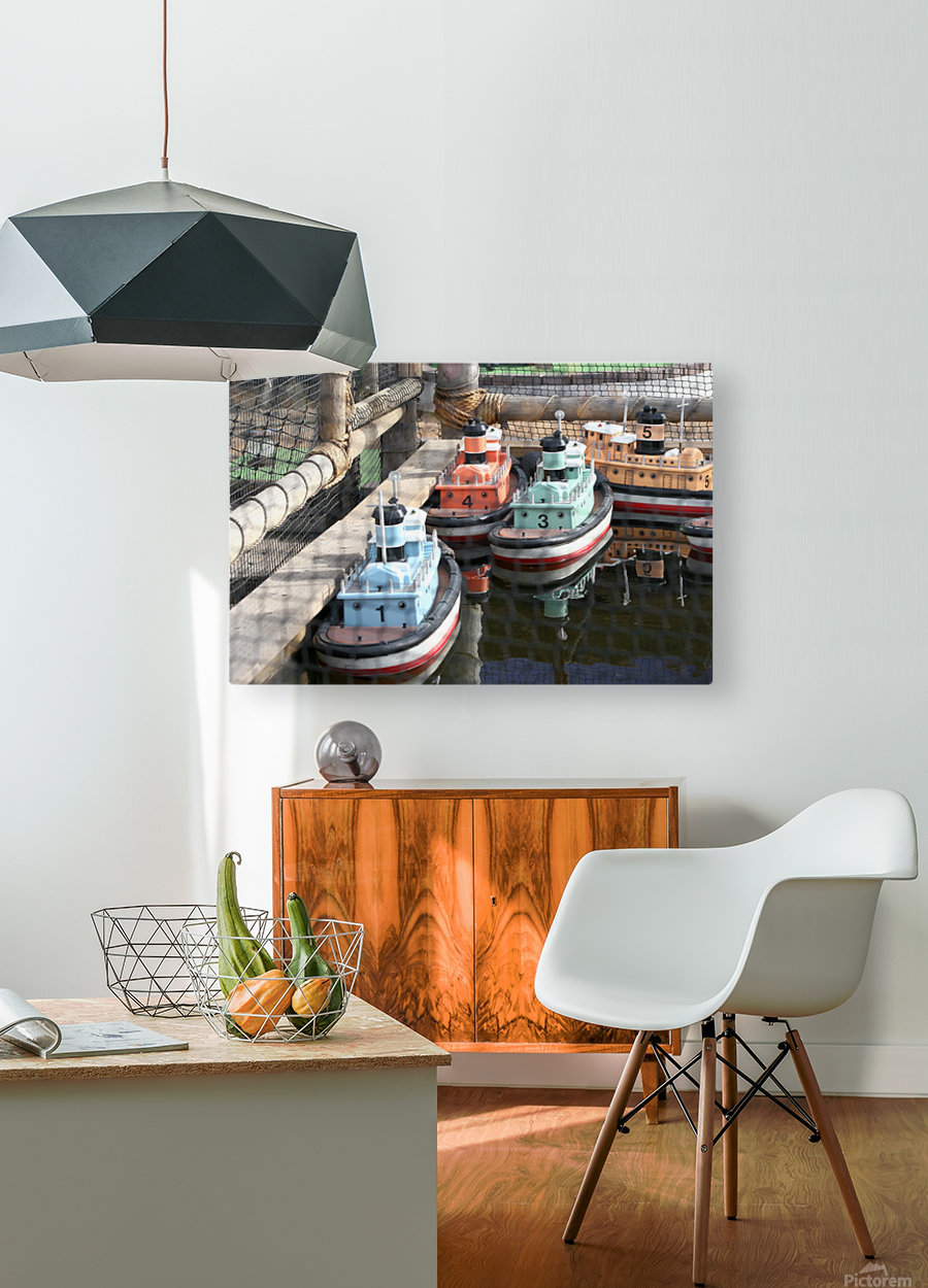 3 Toy Boats  HD Metal print with Floating Frame on Back