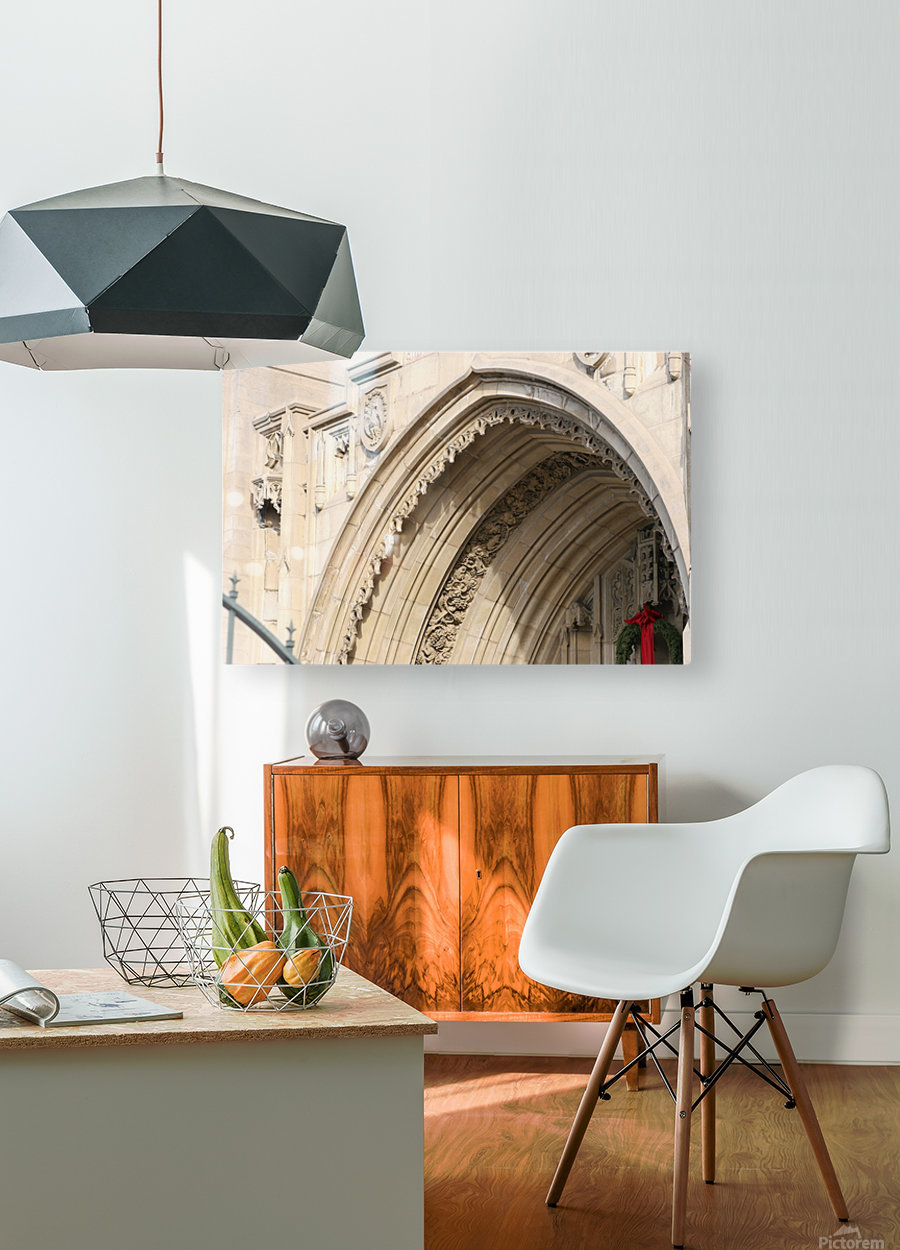 Church Arch  HD Metal print with Floating Frame on Back