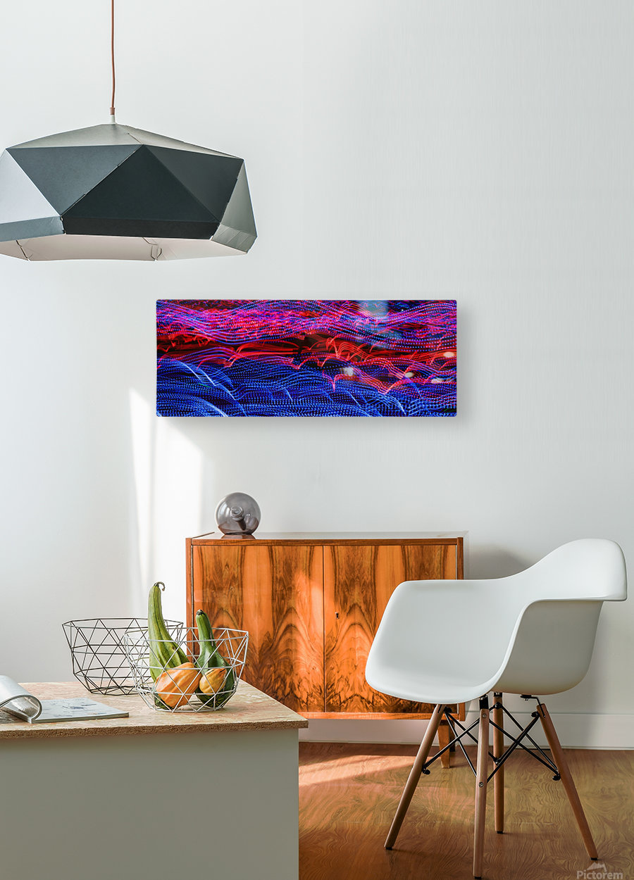 lights abstract curves long exposure  HD Metal print with Floating Frame on Back