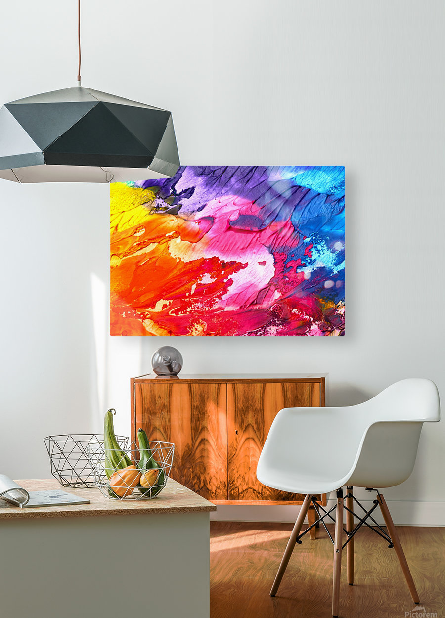 abstr  HD Metal print with Floating Frame on Back