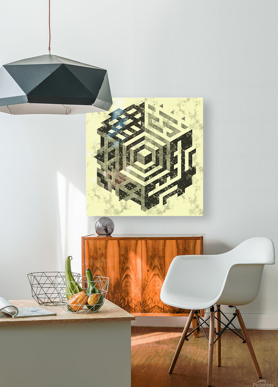 pattern  HD Metal print with Floating Frame on Back
