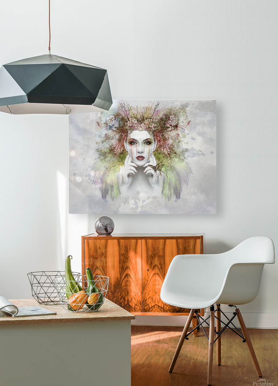 face  HD Metal print with Floating Frame on Back