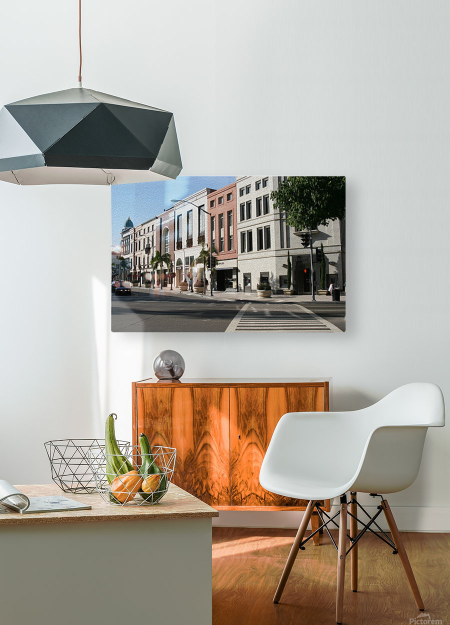 North Rodeo Drive  HD Metal print with Floating Frame on Back