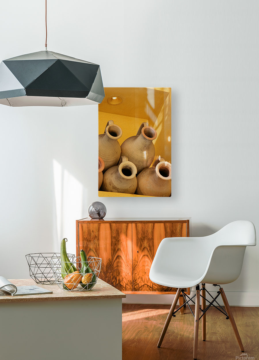 Four Stacked Jugs  HD Metal print with Floating Frame on Back