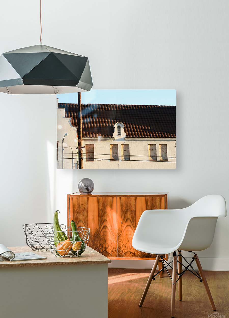 Old Building with Shadow  HD Metal print with Floating Frame on Back
