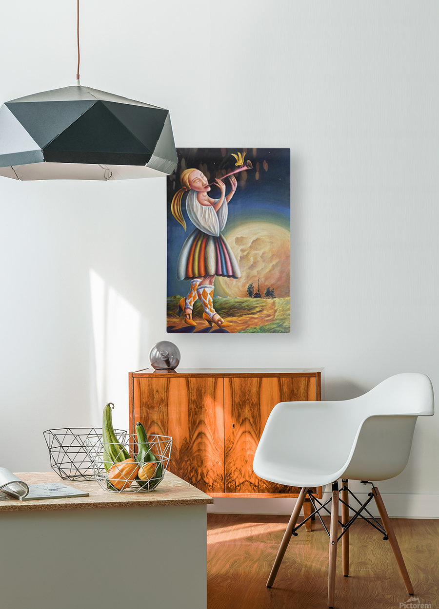 Moon rise  HD Metal print with Floating Frame on Back