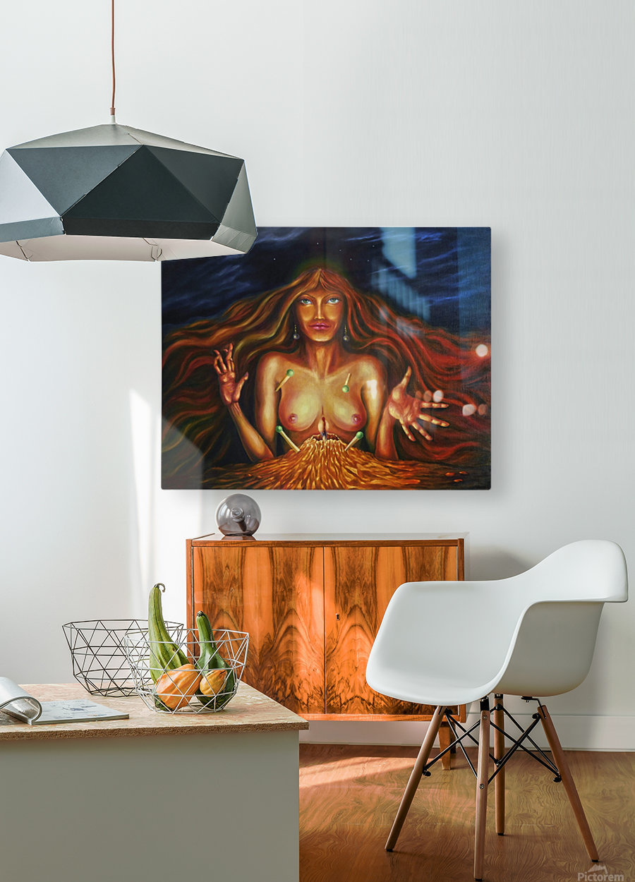 Fortune teller  HD Metal print with Floating Frame on Back