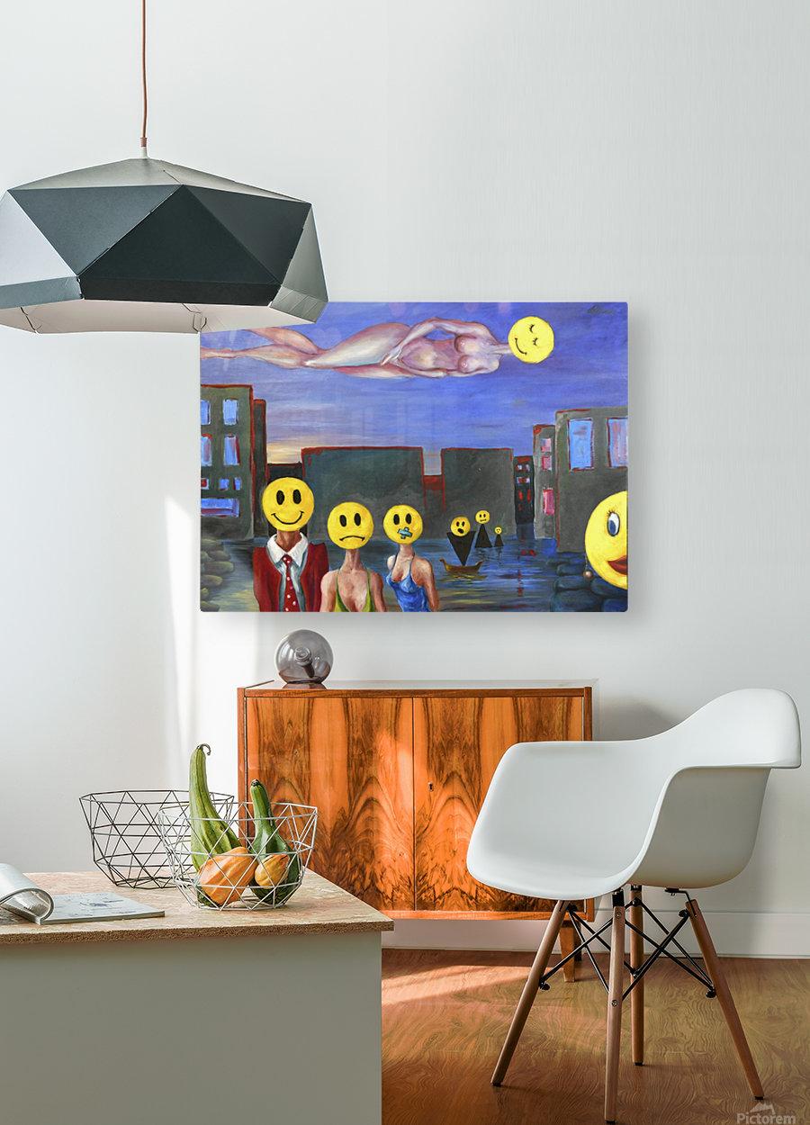 homo smilikus  HD Metal print with Floating Frame on Back