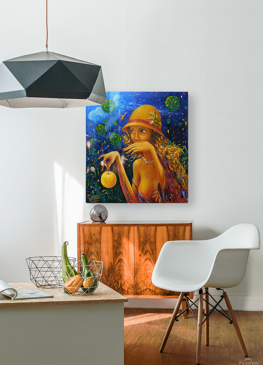 The Prankster  HD Metal print with Floating Frame on Back