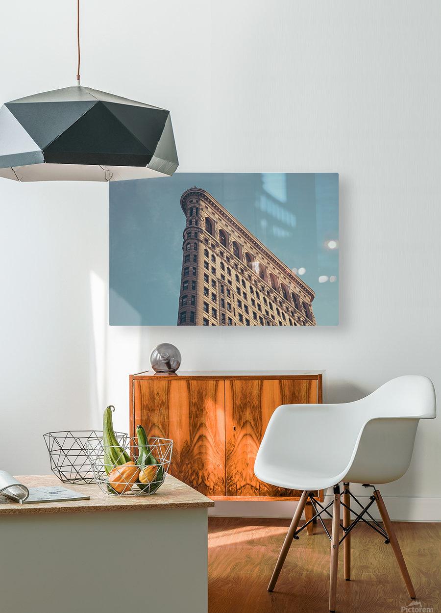 New York Flatiron Building 2  HD Metal print with Floating Frame on Back