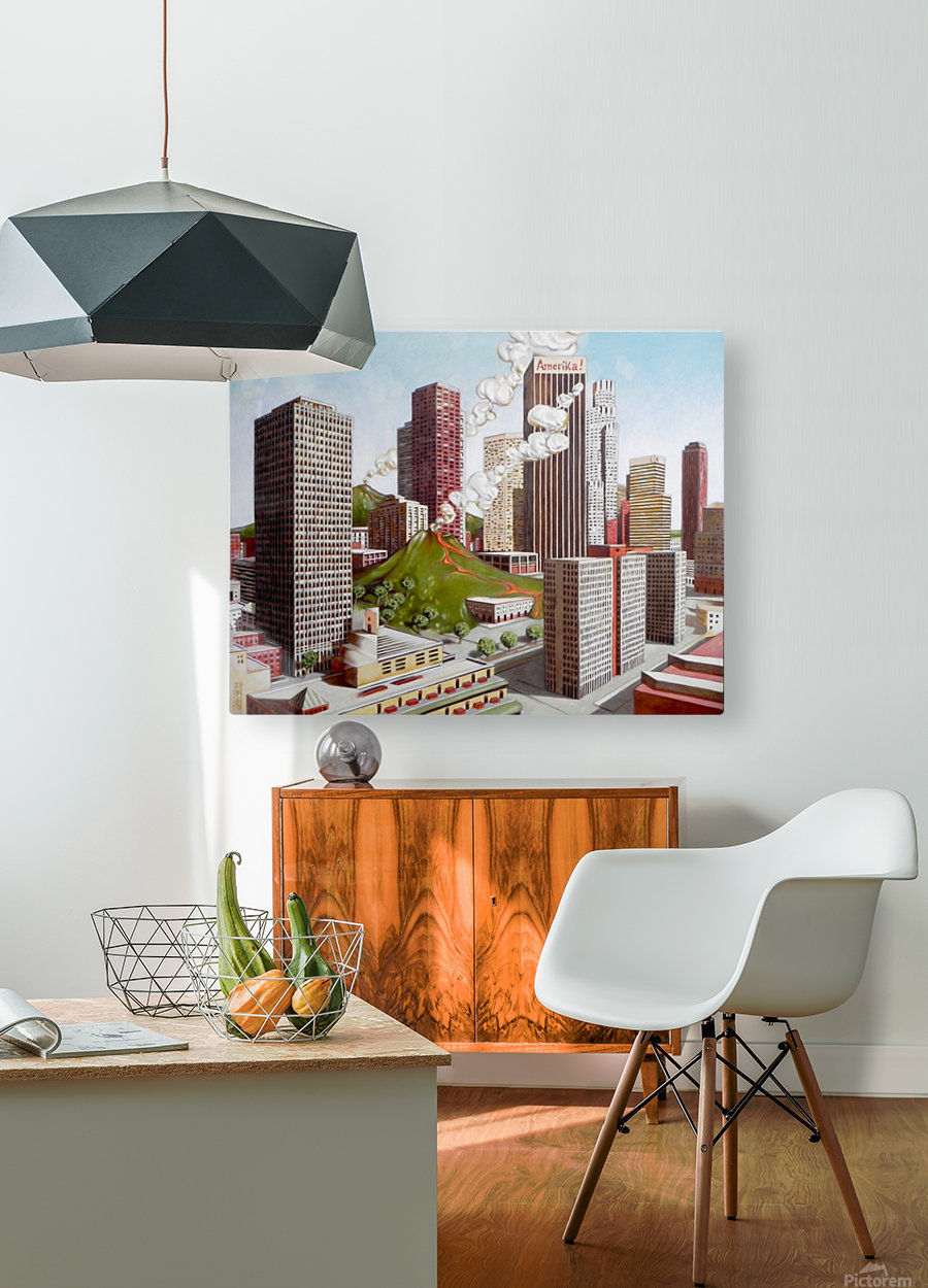 Volcano in Los Angeles  HD Metal print with Floating Frame on Back