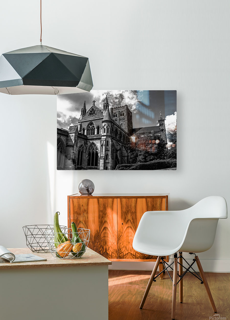 Cathedral   - Black and White image  HD Metal print with Floating Frame on Back