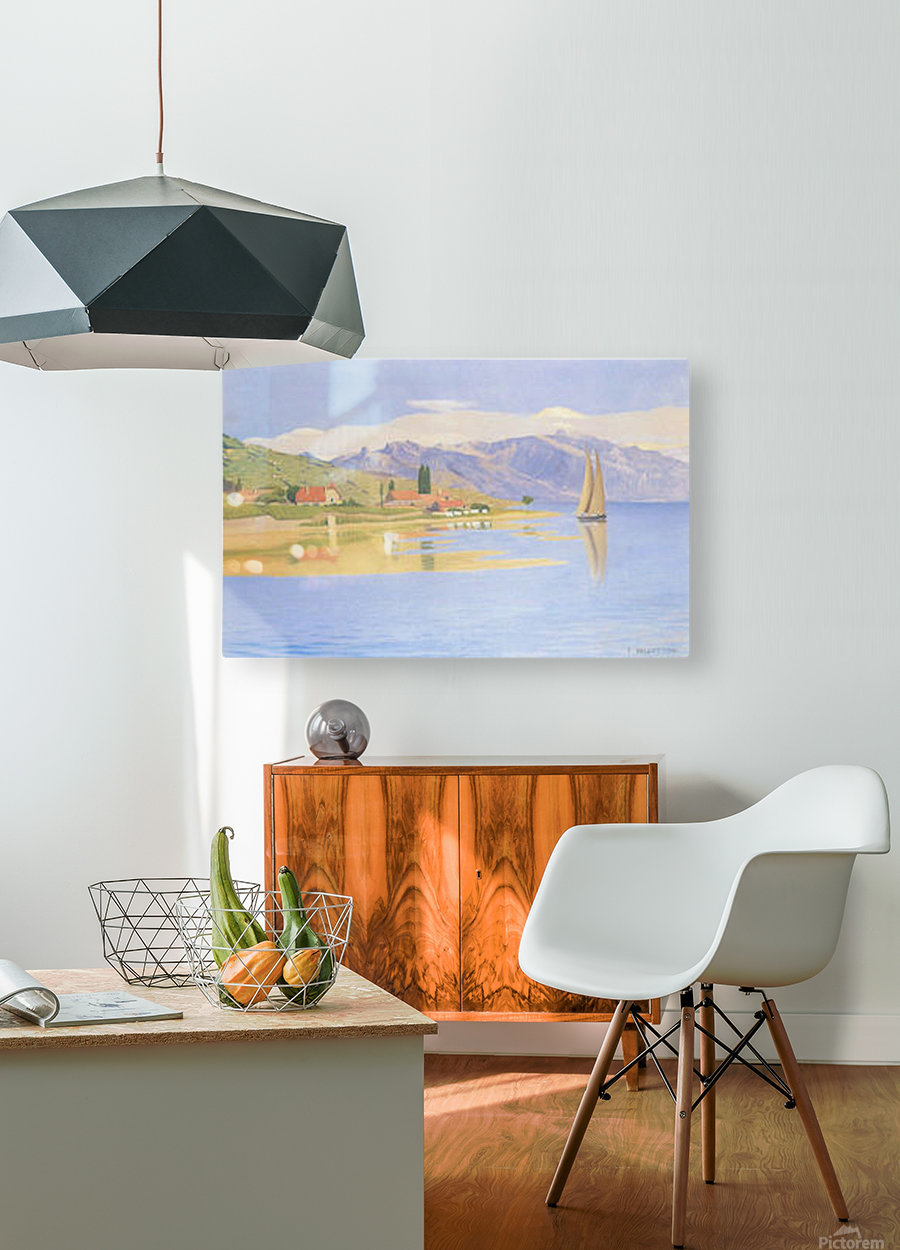The port of Pully by Felix Vallotton  HD Metal print with Floating Frame on Back