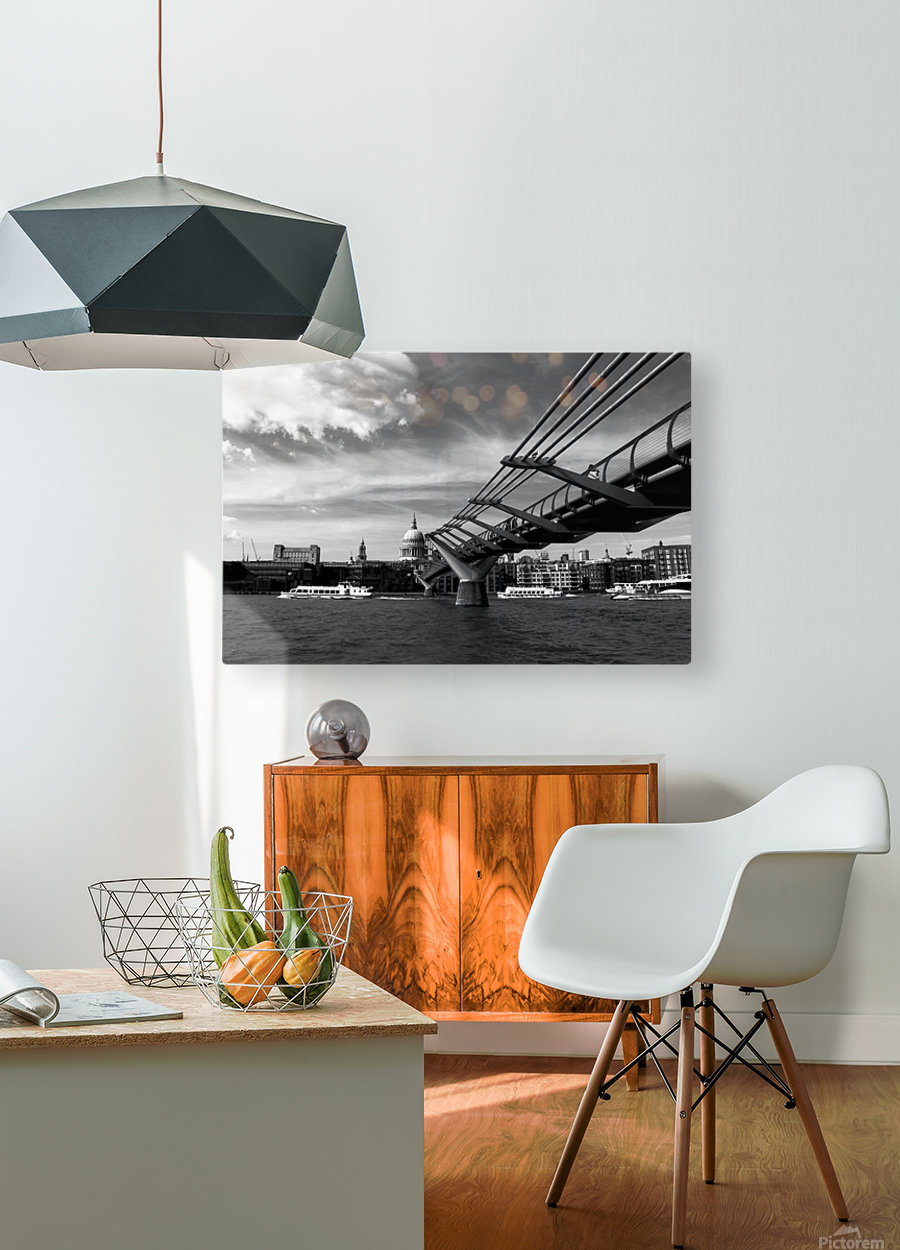 London Skyline -St Pauls Cathedral  HD Metal print with Floating Frame on Back