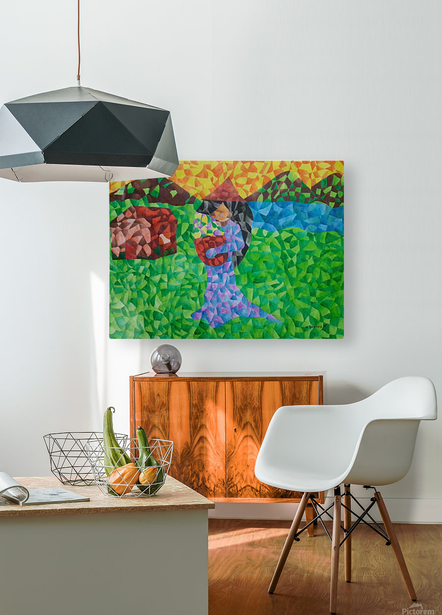 Life in Province  HD Metal print with Floating Frame on Back