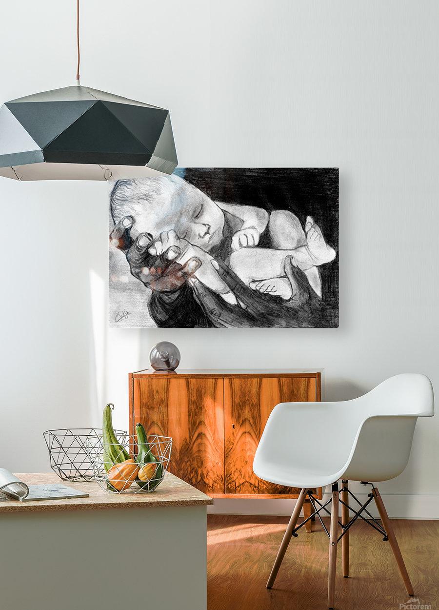 In Safe Hands  HD Metal print with Floating Frame on Back