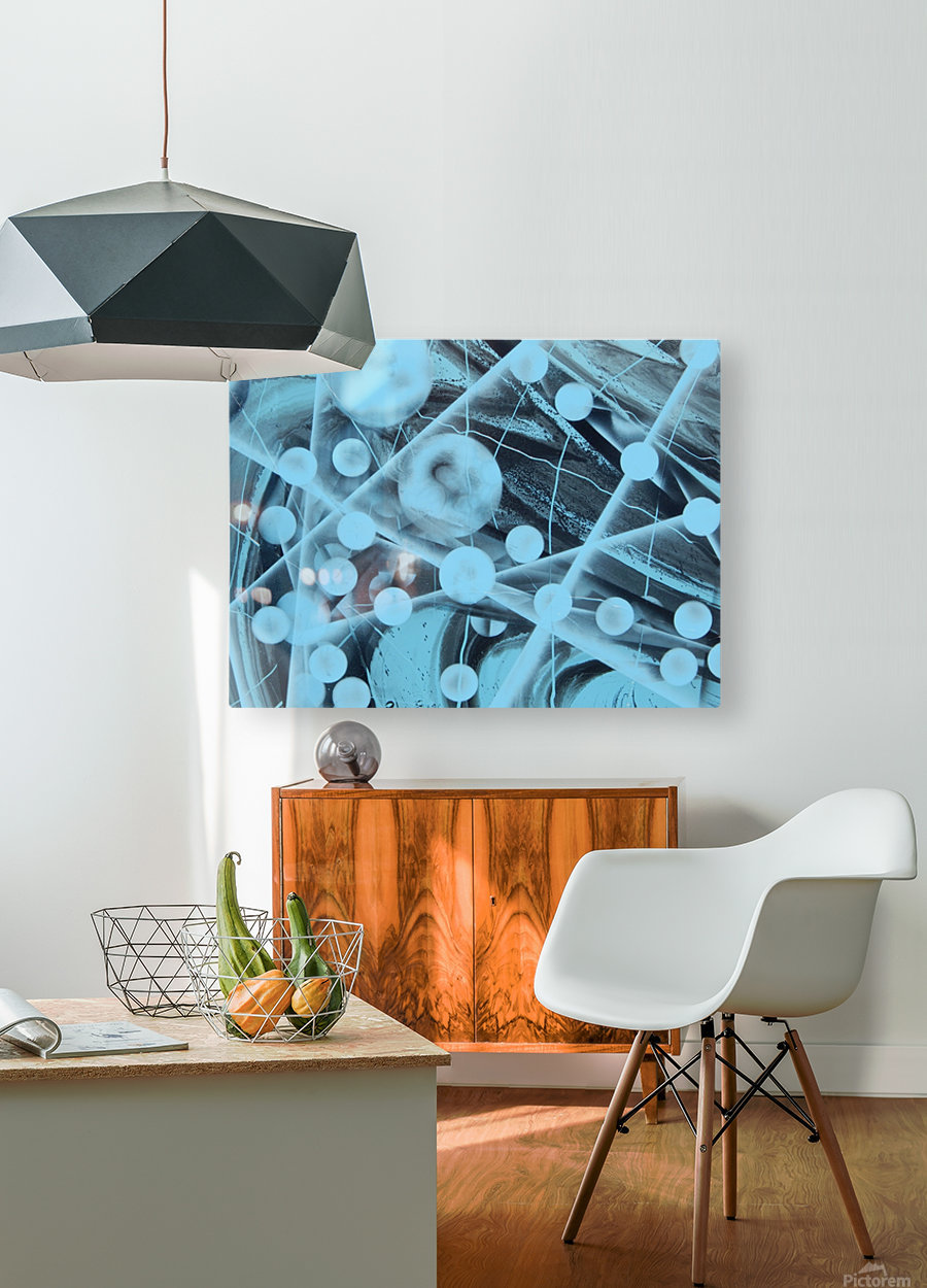 ATOMIC BLUE  HD Metal print with Floating Frame on Back